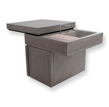 outdoor k che beton. Black Bedroom Furniture Sets. Home Design Ideas